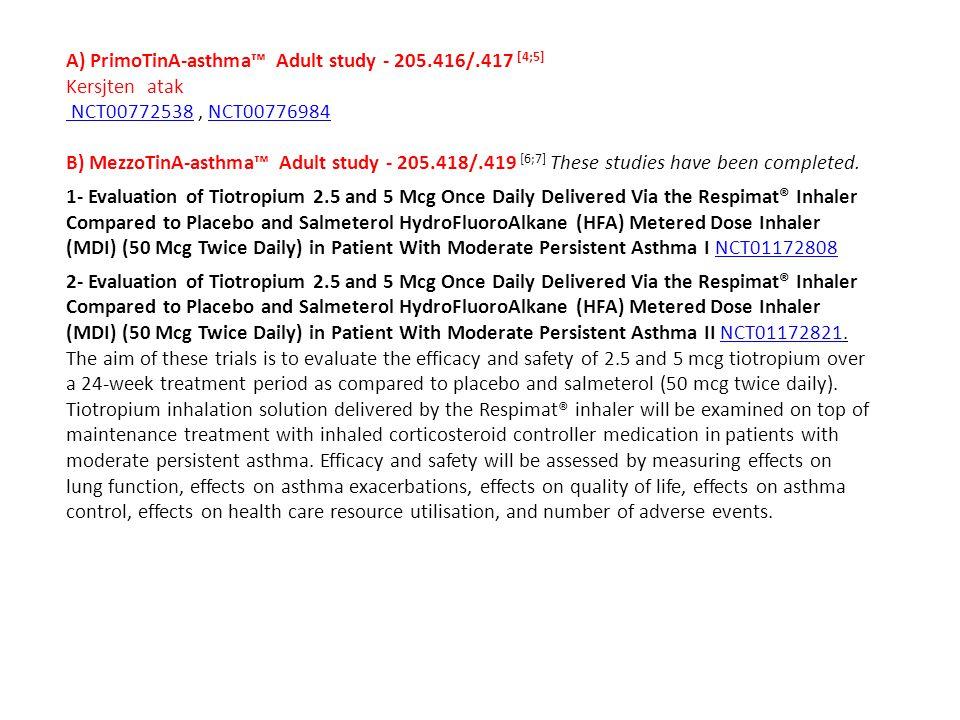 A) PrimoTinA-asthma™ Adult study - 205.416/.417 [4;5]